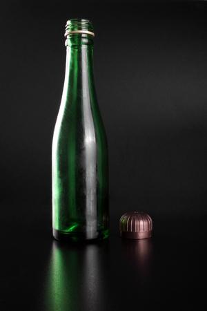 Green bottle photo