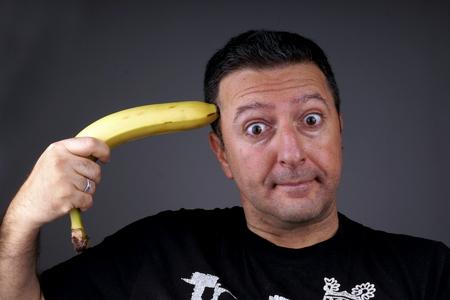 Joking with Banana photo