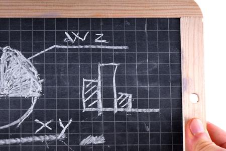 Drawing on blackboard photo