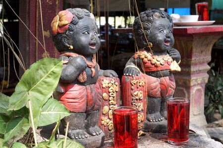 ancestors: Thai offerings to ancestors Stock Photo