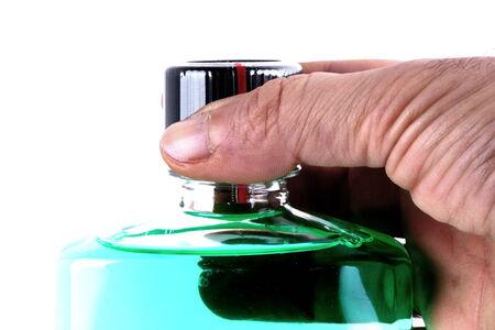mouthwash: Green mouthwash