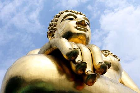 Golden triangles big Buddha photo