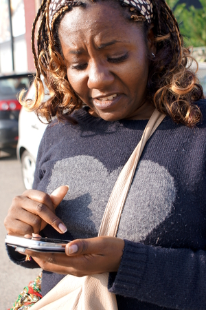 Texting african lady