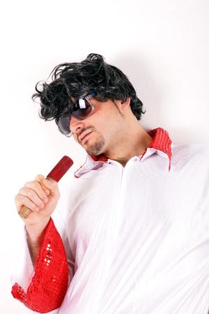 elvis presley: Elvis Presley sosia Stock Photo