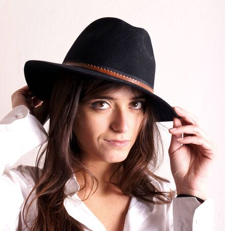 Woman with hat photo