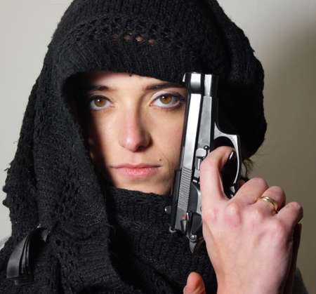 Terrorist lady photo