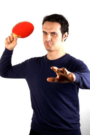 Man playing table tennis photo
