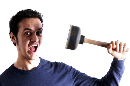 plunger: Man with plunger