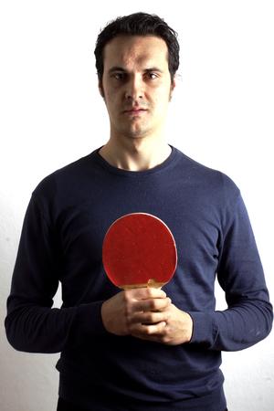 pong: Man playing ping pong Stock Photo