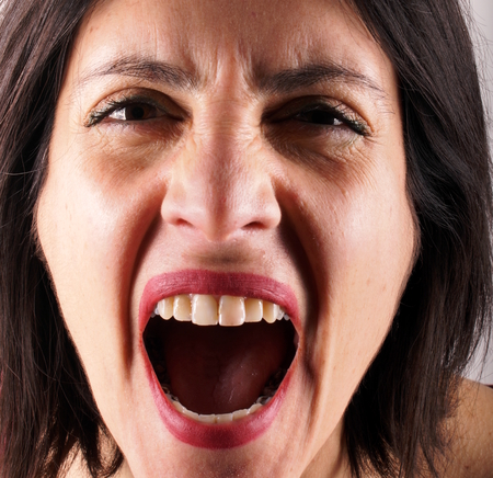 mad girl: Screaming lady