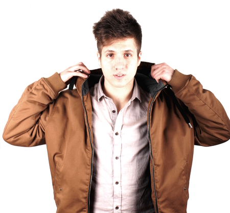 anorak: Boy with anorak