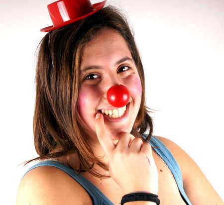 Clown girl photo