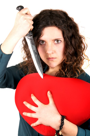 broken relationship: Lady broken heart Stock Photo