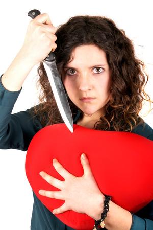 corazon roto: Se�ora coraz�n roto Foto de archivo