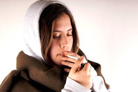 smoking girl: Smoking girl