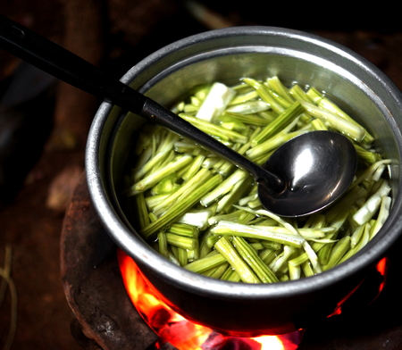 brazier: Detail of a Thai food on brazier Stock Photo