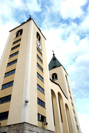 hercegovina: Picture of the churh of St James in Medjugorje Stock Photo