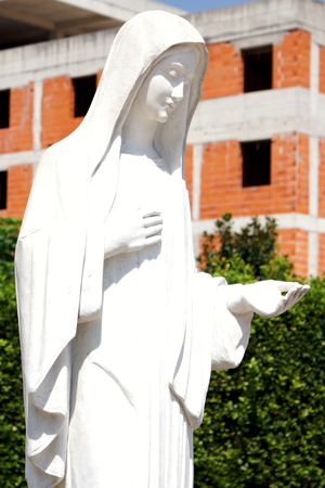 bosnia and hercegovina: The statue of the Virgin Mary in Medjugorje Stock Photo