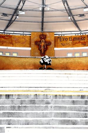 bosnia hercegovina: Picture of the churh of St James in Medjugorje Stock Photo