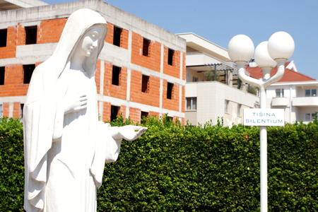 bosnia hercegovina: The statue of the Virgin Mary in Medjugorje Stock Photo