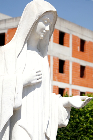 hercegovina: The statue of the Virgin Mary in Medjugorje Stock Photo