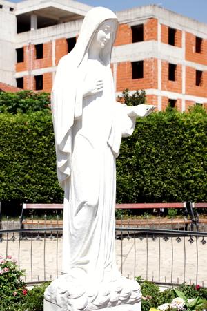 vestal: The statue of the Virgin Mary in Medjugorje Stock Photo