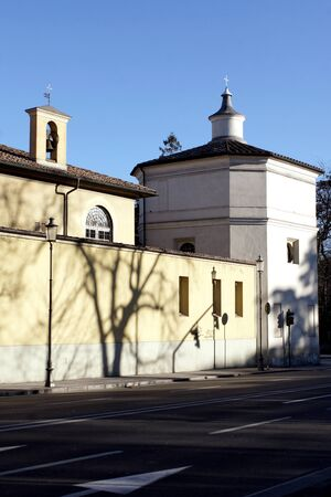 Angeli: Detail of an ancient italian Catholic church