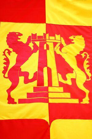 grappa: Close up of the Bassano del Grappa flag
