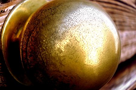 door handle: Detail of an ancient metallic door handle