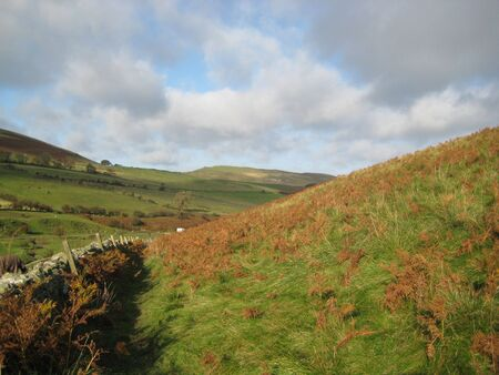picture was taken while walking the Pennine Way in the Cheviot Hills between England and Scotland photo