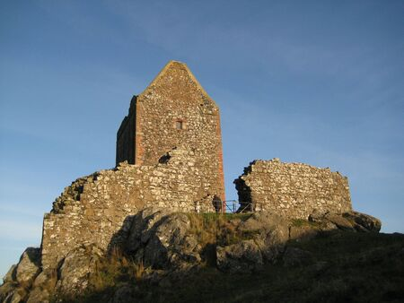 sir walter scott: picture of Smailholm Tower was taken in the Scottish Borders close to Kelso