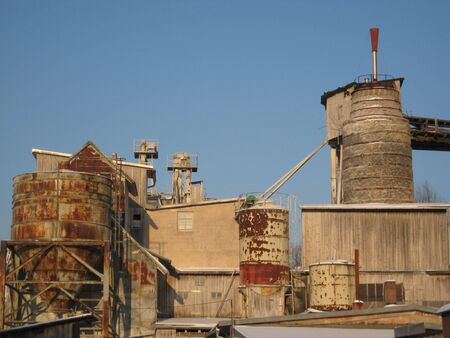 this picture of an old lime factory was taken in Germany photo
