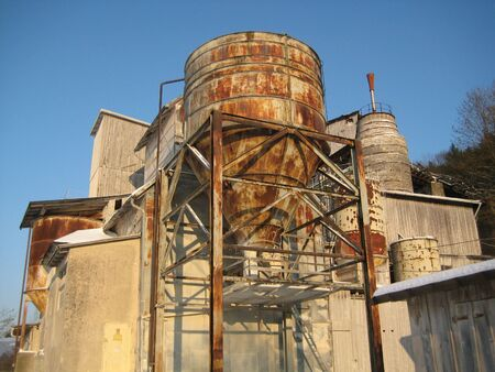 hydroxide: this picture of an old lime factory was taken in Germany