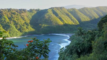 maui's honomanu bay and and the road to hana in hawaii