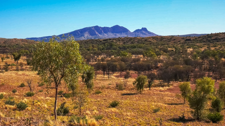 mount sonder in the west macdonnell ranges Stock Photo