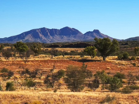 close shot of mount sonder in the west macdonnell ranges