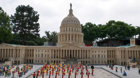 CARLSBAD, CALIFORNIA, USA - AUGUST 24, 2015: lego model of the us capitol building at legoland california Editorial