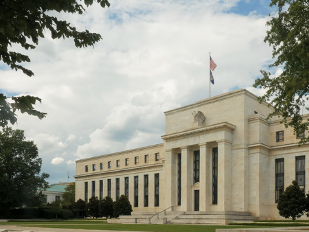 oblique view of the federal reserve building