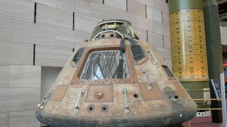 WASHINGTON, DC, USA - SEPTEMBER 10, 2015: a close up view of the apollo 11 command module Sajtókép