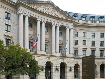 the exterior of the us environmental protection agency building in washington
