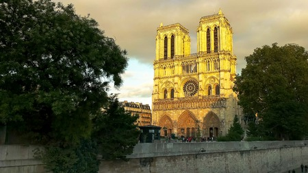 notre dame cathedral, one of the most famous buildings in paris Stockfoto