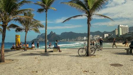 RIO DE JANEIRO, BRAZIL- 24,MAY, 2016: ipanema beach from arpoador in rio de janeiro