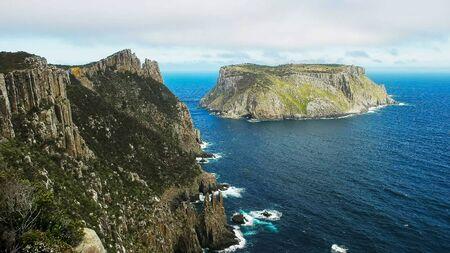 the view of tasman island from cape pillar in tasmania Stock Photo
