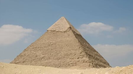the pyramid of khafre in cairo, egypt Stock Photo