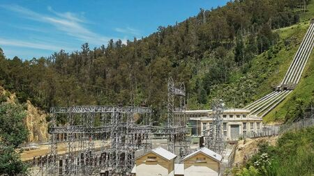 the hydro power station at tarraleah in tasmania