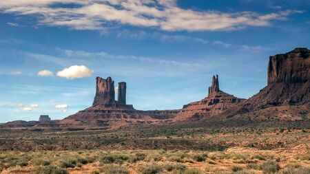 morning at saddleback mesa in monument valley, utah