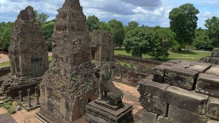 wide view of pre rup temple in angkor Stock Photo