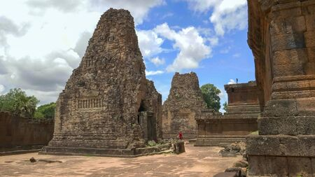 a brick tower of pre rup temple near angkor wat Stock Photo