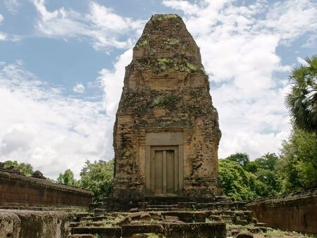 a tower at pre rup temple near angkor wat