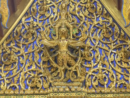 close up of roof detail at wat phra kaew in bangkok 写真素材